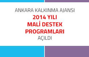 Ankara Kalkınma Ajansı 2014 Yılı Mali Destek Programları