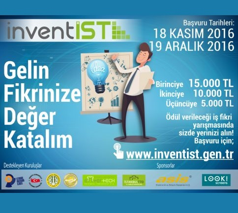 InventIST İş Fikri Yarışması! Son Başvuru Tarihi: 19 Aralık 2016