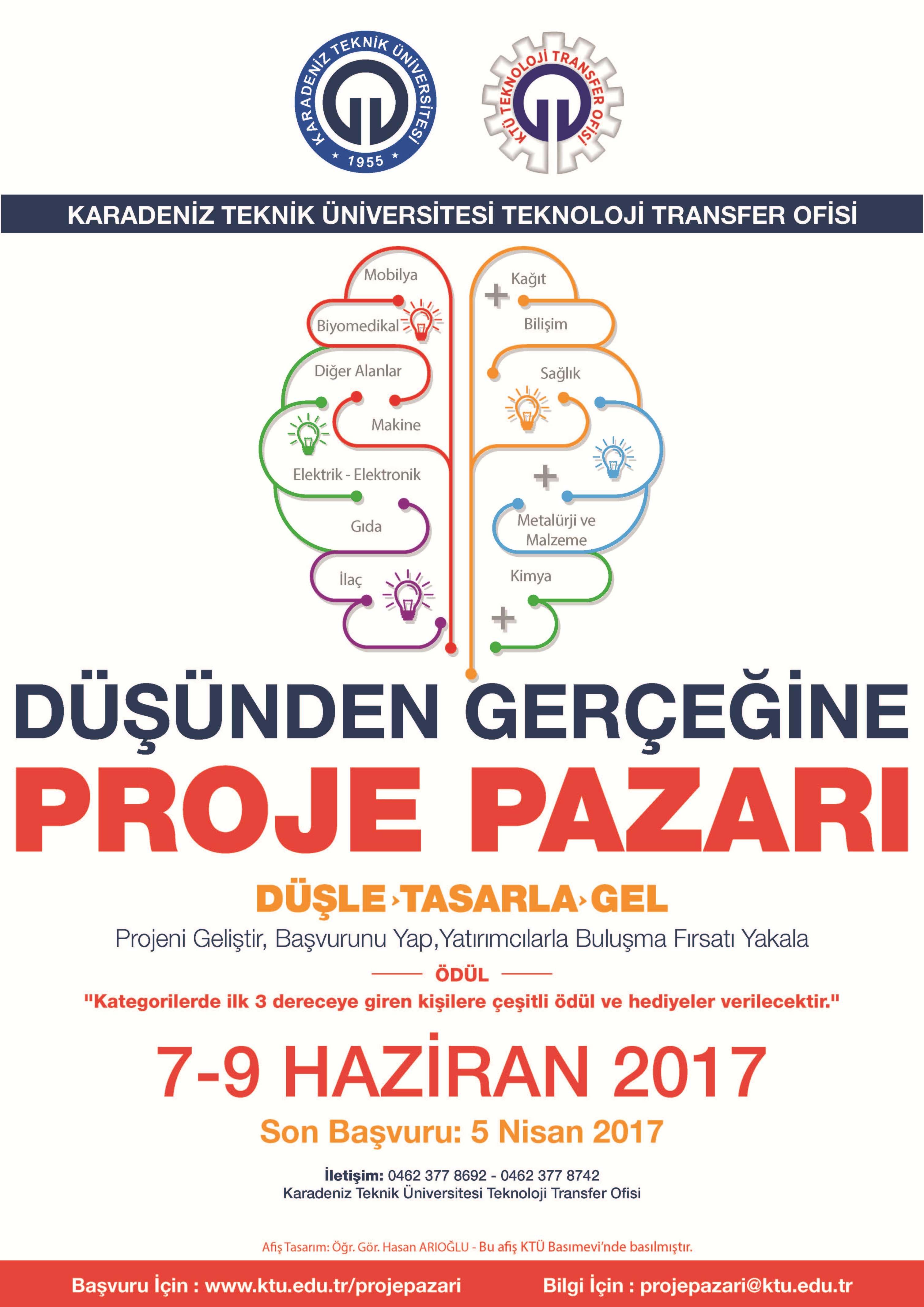 """""""KTÜ – TTO Düşünden Gerçeğine Proje Pazarı""""! Son Başvuru Tarihi: 5 Nisan 2017, Etkinlik Tarihi: 7-9 Haziran 2017"""