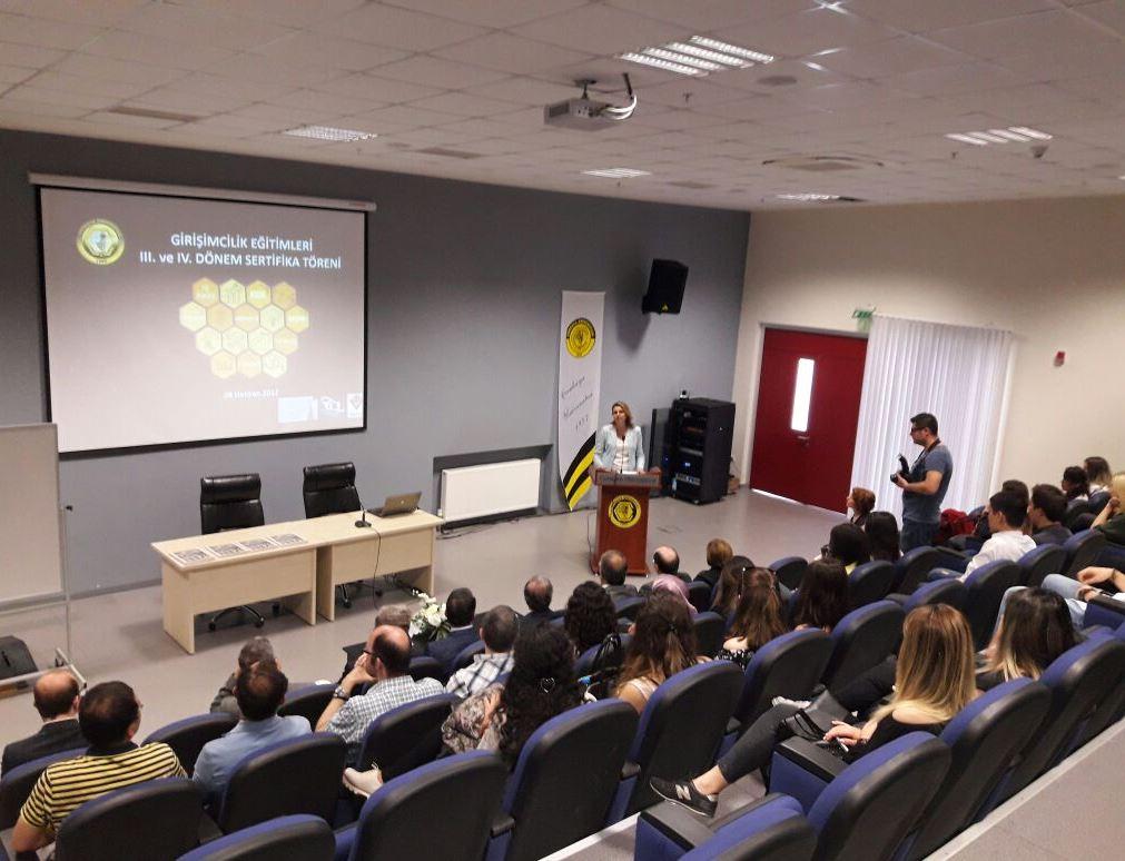 Çankaya Üniversitesi Girişimcilik Sertifika Programı III ve IV. Dönem Sertifika Töreni!