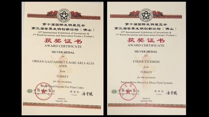 Çankaya Üniversitesi'nin İki Patenti Çin Buluş Fuarında Gümüş Madalya Kazanmıştır!