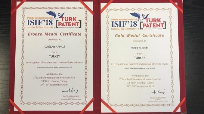 Çankaya Üniversitesi'nin İki Patenti 3. İstanbul Uluslararası Buluş Fuarında Altın ve Bronz Madalya Kazanmıştır!