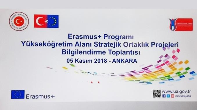 Çankaya Üniversitesi TTO Olarak 5 Kasım 2018 Tarihinde Gerçekleşen Erasmus+ Programı Yükseköğretim Alanı Stratejik Ortaklık Projeleri Bilgilendirme Toplantısı'na Katıldık!