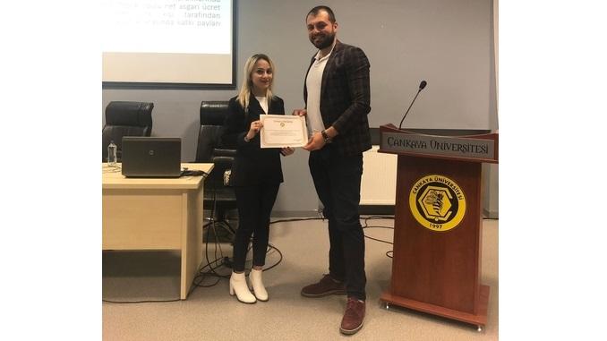 19 Nisan 2019 Tarihinde Üniversitemizde Mühendislik Çözümlerinde Hukuk Bilinci Eğitimi Düzenlendi