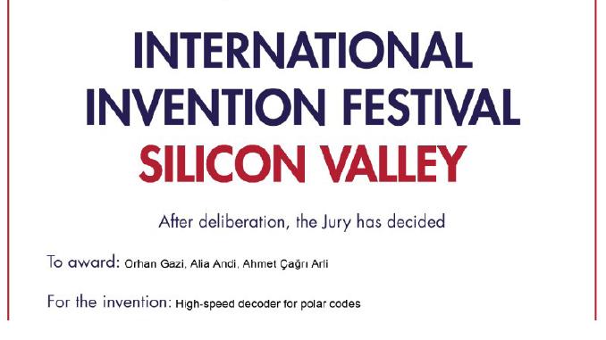 """Üniversitemizin Başvuru Durumundaki Patentine """"Silikon Vadisi Uluslararası Buluş Festivali""""nden Bronz Madalya!"""