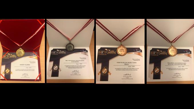 """Çankaya Üniversitesi'nin Başvuru Sahibi Olduğu Patentler, Teknofest Alanında Gerçekleşen """"4. İstanbul Uluslararası Buluş Fuarı""""nda Altın, Gümüş ve Bronz Madalya Kazandı!"""