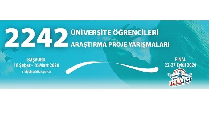 Güncelleme: TÜBİTAK 2242 Üniversite Öğrencileri Araştırma Proje Yarışmaları! Son Başvuru: 6 Nisan 2020