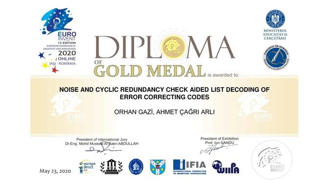 EuroInvent Yaratıcılık ve İnovasyon Fuarından Akademisyen Buluşumuz Altın Madalya Kazandı!
