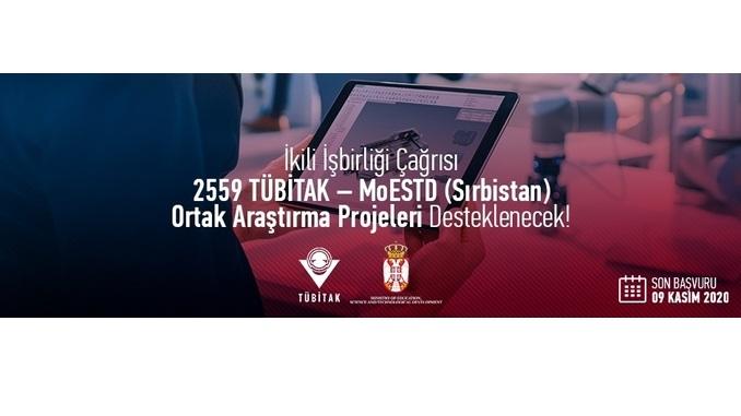 2559 TÜBİTAK – MoESTD (Sırbistan) İkili İş Birliği Çağrısı! Son Başvuru: 9 Kasım 2020