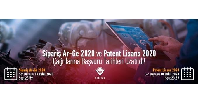 """TÜBİTAK """"Siparişe Dayalı Ar-Ge Projeleri için KOBİ Destekleme Çağrısı"""" ve """"Patent Tabanlı Teknoloji Transferi Destekleme Çağrısı"""" Son Başvuru Tarihi Uzatıldı!"""
