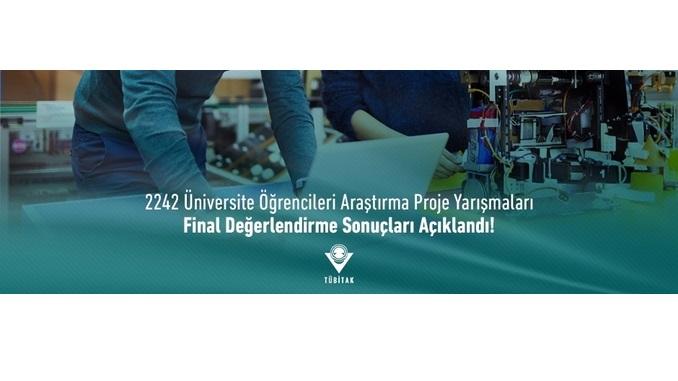 TÜBİTAK 2242 Üniversite Öğrencileri Araştırma Proje Yarışmaları Final Değerlendirme Sonuçları