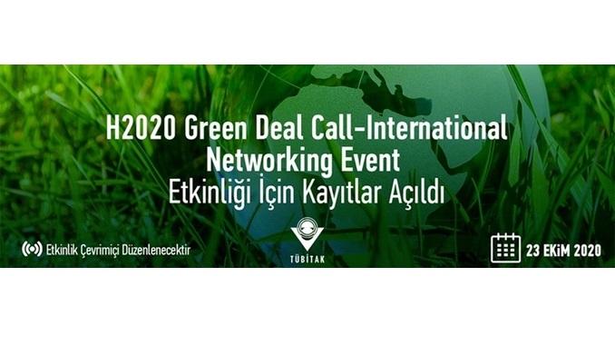 TÜBİTAK'tan Ufuk 2020 Yeşil Mutabakat Çağrısı Uluslararası Ağ Oluşturma Etkinliği 23 Ekim 2020 Tarihinde!