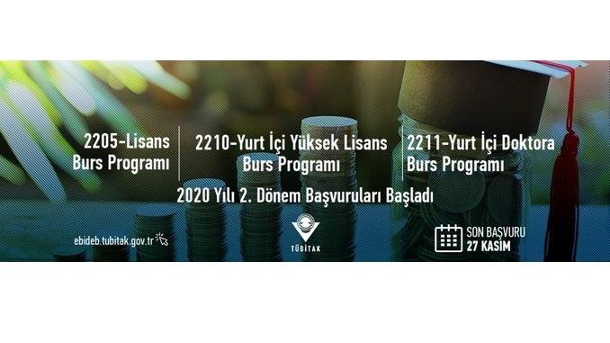 TÜBİTAK Eğitim Burs Programları İçin 2020 Yılı 2.Dönem Çağrıları Son Başvuru Tarihi: 27 Kasım 2020