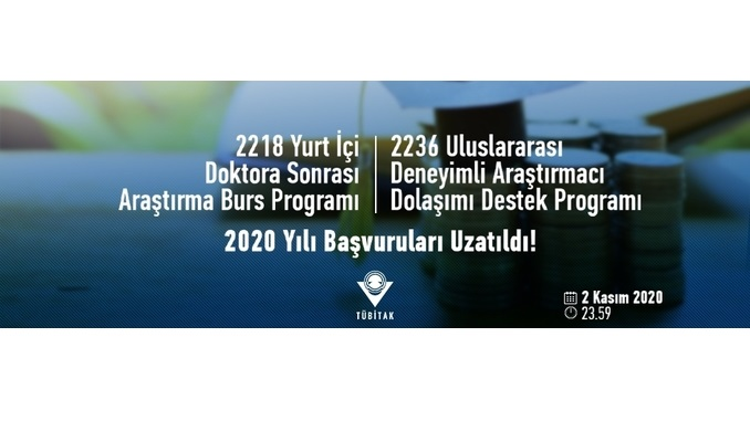 TÜBİTAK 2218 ve 2236 Programları Son Başvuruları 2 Kasım 2020 Tarihine Uzatıldı