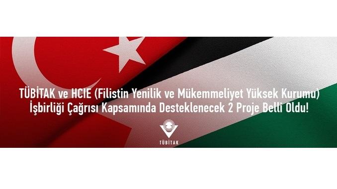 TÜBİTAK – HCIE (Filistin Yenilik ve Mükemmeliyet Yüksek Kurumu) İkili İşbirliği Çağrısı Başvuru Sonuçları
