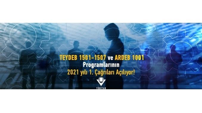 TEYDEB 1501-1507 ve ARDEB 1001 Programlarının 2021 Yılı Çağrı Takvimi Belli Oldu!