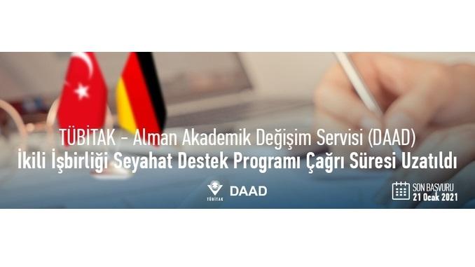 TÜBİTAK – Alman Akademik Değişim Servisi (DAAD) Seyahat Destek Programının Çağrı Süresi Uzatıldı