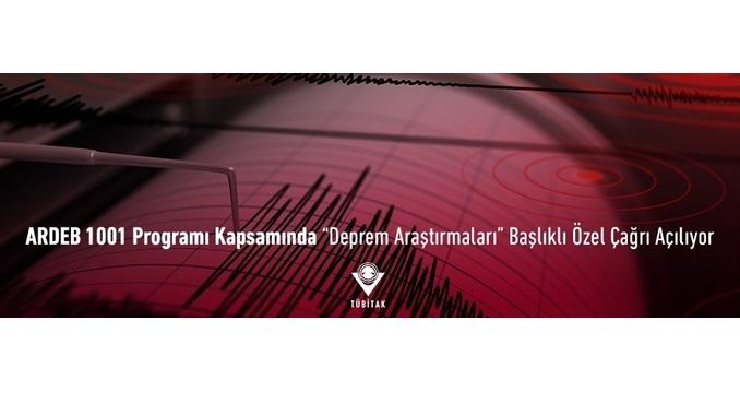 """TÜBİTAK ARDEB 1001 Programı Kapsamında """"Deprem Araştırmaları"""" Başlıklı Özel Çağrı Açılıyor!"""