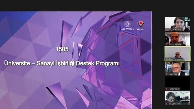 TÜBİTAK 1505 Üniversite-Sanayi İşbirliği Destek Programı Tanıtım Webinarı 28 Ocak 2021 Tarihinde Gerçekleşti