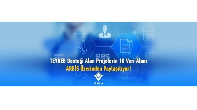 TÜBİTAK TEYDEB'in Desteklediği Projelerin 10 Veri Alanı ARBİS'ten Paylaşılmaya Başlandı