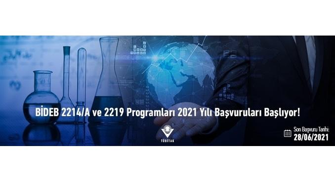 BİDEB 2214/A ve 2219 Programları 2021 Yılı Başvuruları 29 Mart 2021 Tarihinden İtibaren Alınacaktır