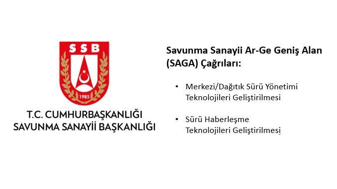 T.C. Cumhurbaşkanlığı Savunma Sanayi Başkanlığı Savunma Sanayii Ar-Ge Geniş Alan (SAGA) Çağrıları! Son Başvuru: 17 Mayıs 2021