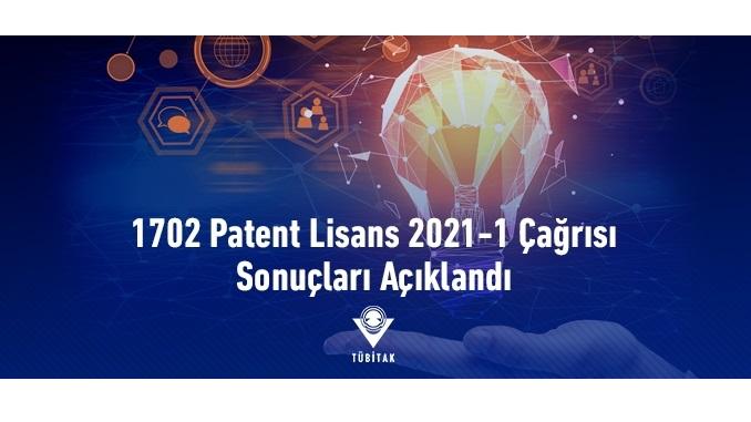 TÜBİTAK 1702 Patent Lisans 2021-1 Çağrısı Sonuçları Açıklandı