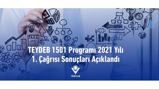 TÜBİTAK TEYDEB 1501 Programı 2021 Yılı 1. Çağrısı Sonuçları Açıklandı