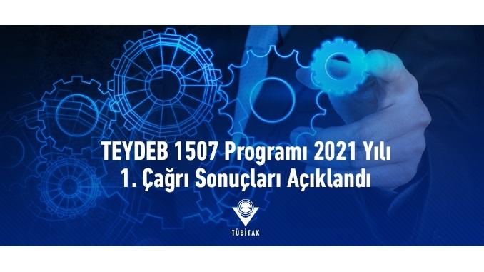 TÜBİTAK TEYDEB 1507 Programı 2021 Yılı 1. Çağrı Sonuçları