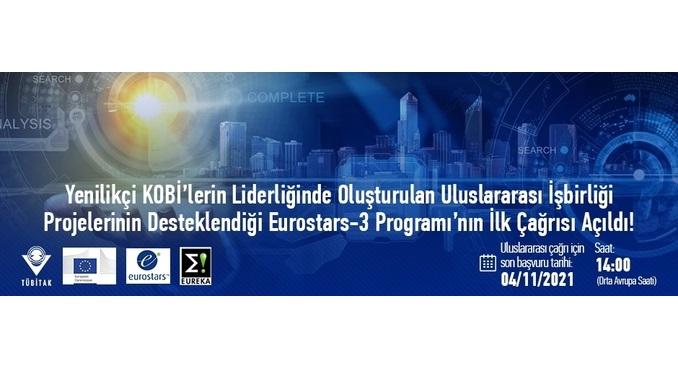 Eurostars-3 Programı'nın İlk Çağrısı Açıldı! Uluslararası Çağrı İçin Son Başvuru Tarihi: 4 Kasım 2021