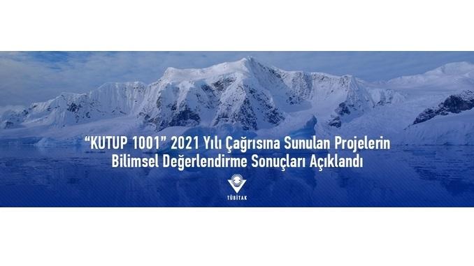 """""""KUTUP 1001"""" 2021 Yılı Çağrısına Sunulan Projelerin Bilimsel Değerlendirme Sonuçları"""