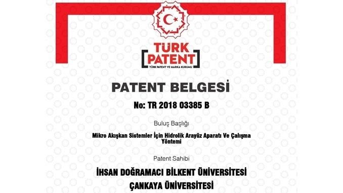 """Çankaya Üniversitesi ve Bilkent Üniversitesi'nin """"Mikro Akışkan Sistemler İçin Hidrolik Arayüz Aparatı ve Çalışma Yöntemi"""" Başlıklı Patenti Tescil Edildi!"""