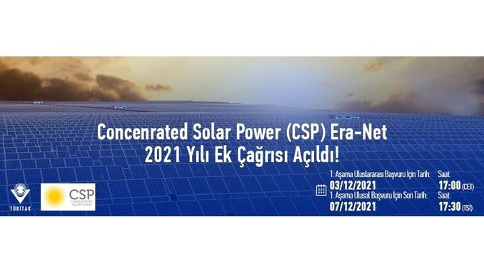 Concenrated Solar Power (CSP) Era-Net 2021 Yılı Ek Çağrısı Açıldı!