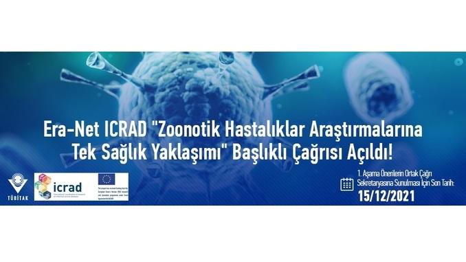 """ICRAD """"Zoonotik Hastalıklar Araştırmalarına Tek Sağlık Yaklaşımı"""" Çağrısı! 1. Aşama Önerilerin Ortak Çağrı Sekretaryasına Sunulması İçin Son Tarih: 15 Aralık 2021"""